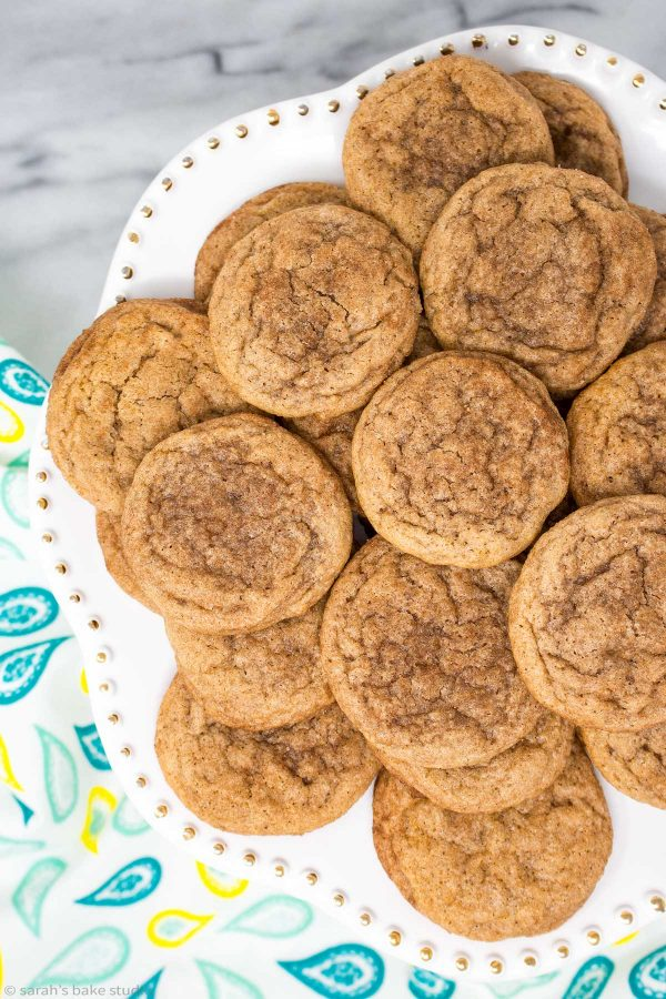 Snickerdoodles - delicious classic cookies, delightfully chewy and BURSTING with cinnamon and sugar!!