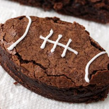 Football Brownies From Scratch from Sarah's Bake Studio