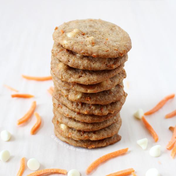 White Chocolate Carrot Cake Cookies
