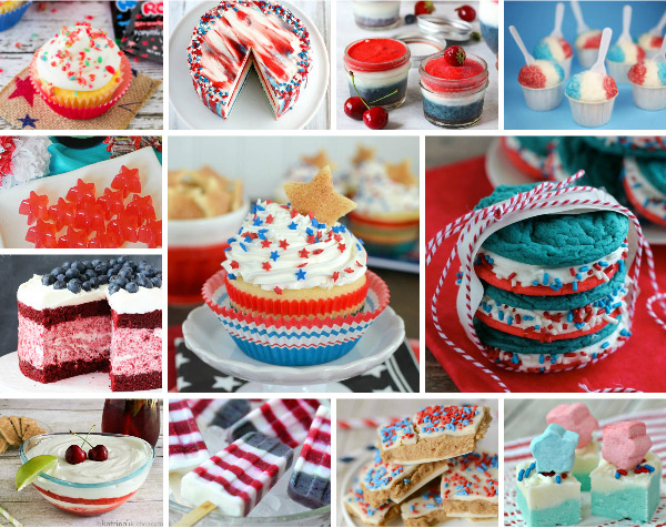 12 Perfect Patriotic Treats - get patriotic with these red, white, and blue desserts; they'll knock your socks off!