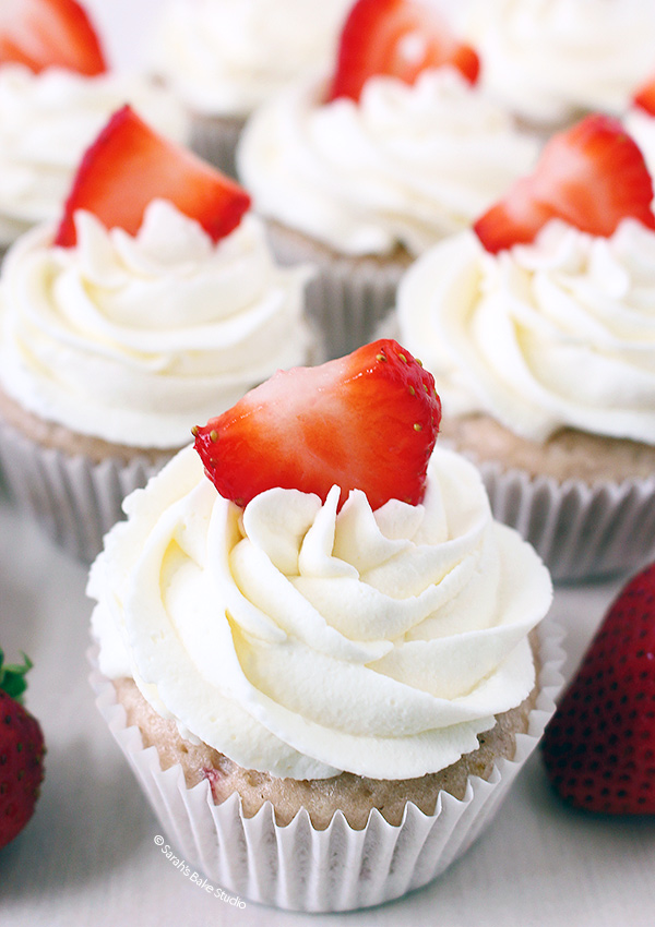 2015 Year in Review: Most Popular Recipes - Strawberries and Cream Cupcakes