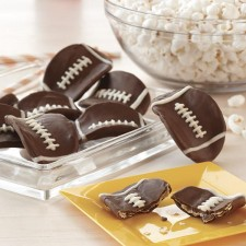 Chocolate Football Potato Crisps from Wilton