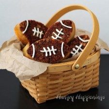 Bacon Cheddar Beer Bread Footballs from Hungry Happenings
