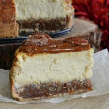 Pecan Pie Cheesecake from Lady Behind the Curtain