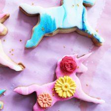 Unicorn Cookies from Poppytalk
