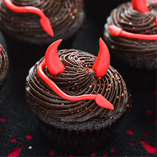 Spicy Devil's Food Cupcakes from The Crumby Cupcake
