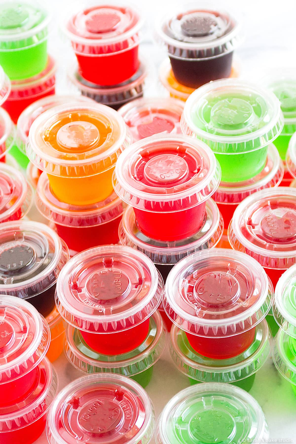 5 rock your socks jello shots in plastic one-ounce cups with lids