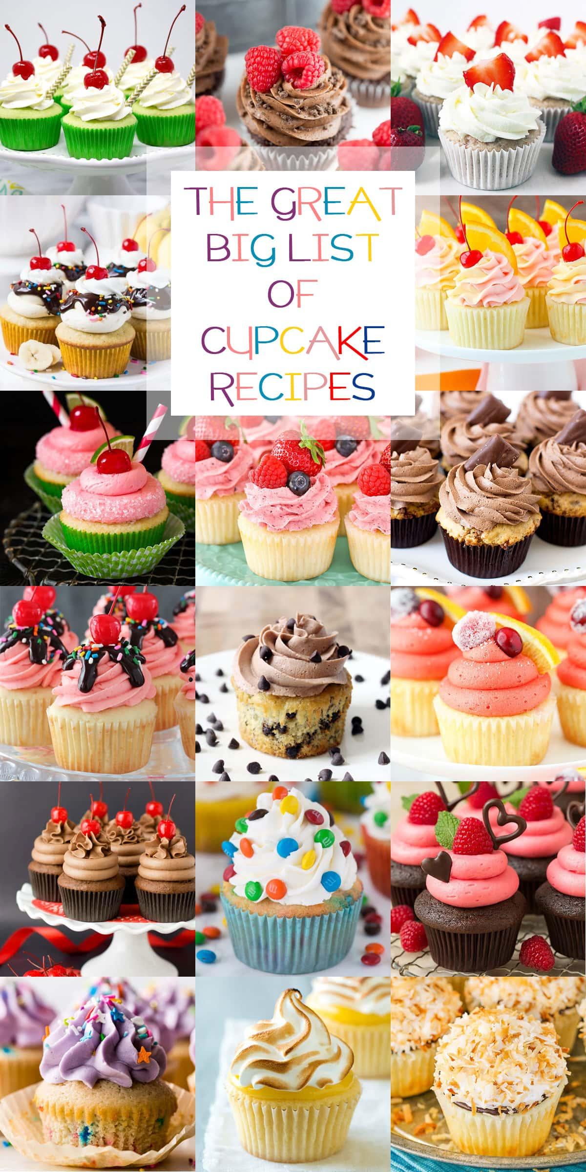 a recipe roundup of cupcake recipes