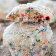 funfetti cake batter wedding cookies