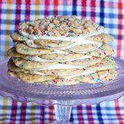 funfetti cookie stack cake