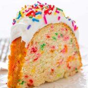 easy homemade funfetti bundt cake