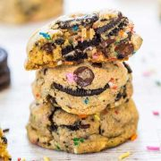 funfetti oreo and sprinkles chocolate chip cookies