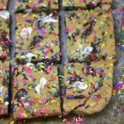funfetti party cookie bars