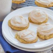 banana cookies with browned butter frosting