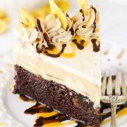 banana mocha ice craem cake