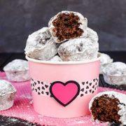 chocolate banana powdered sugar donut holes