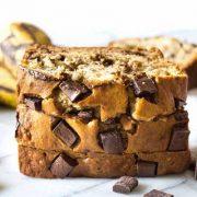 chunky chocolate banana bread