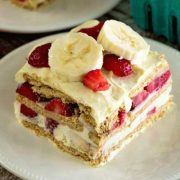 skinny strawberry banana icebox cake