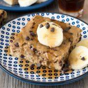 banana chocolate chip pancake cake