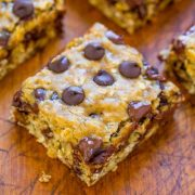 banana oatmeal chocolate chip cookie bars