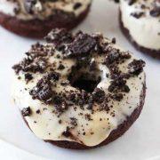 cookies and cream chocolate doughnuts