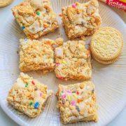 Golden Oero Cake Batter Blondies