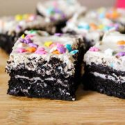 fudgy cookies and cream oreo brownies