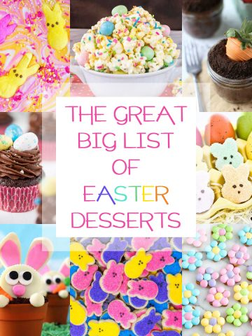 a sweet collection of Easter desserts