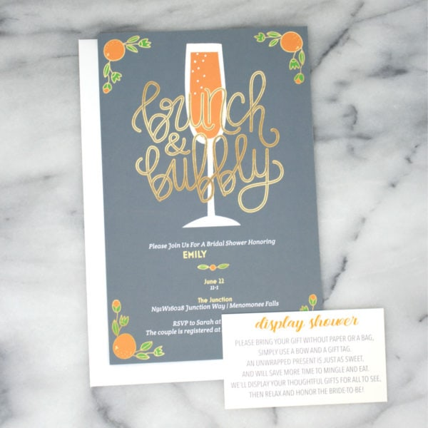 Host a Brunch Bridal Shower - inspiration for hosting a brunch bridal display shower and party etiquette.