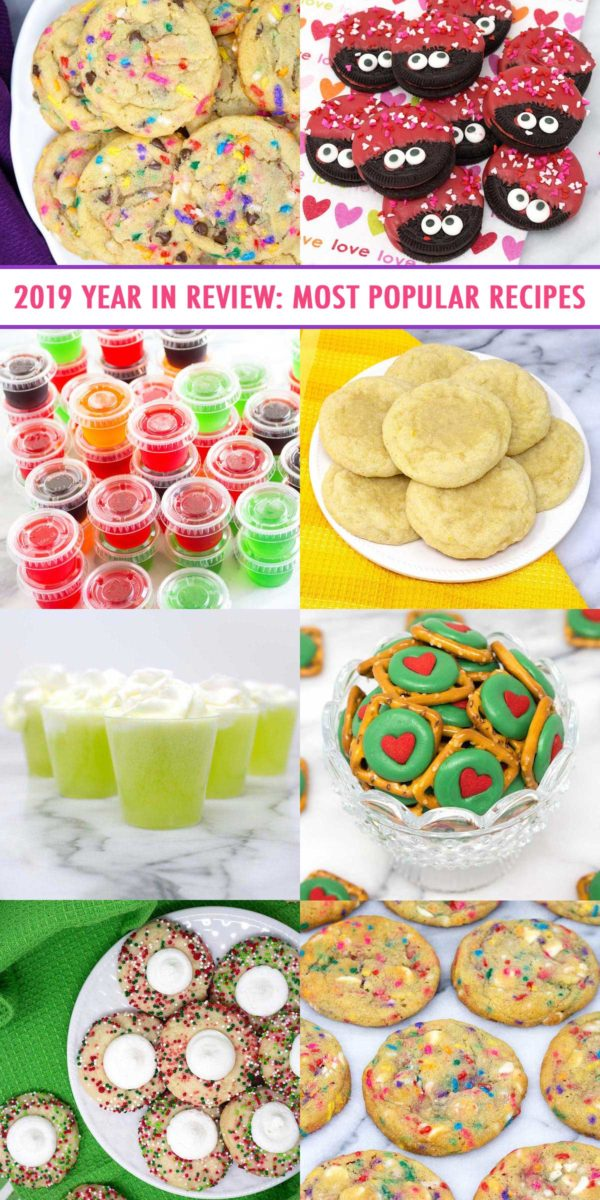 2019 Year in Review: Most Popular Recipes - your favorite shareable, bakeable, and edible recipes in 2019.