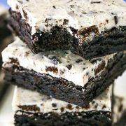 fudgy cookies and cream brownies