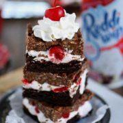 cherry brownie dream bars