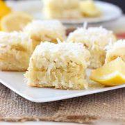 coconut lemon blondies