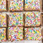frosted sprinkle browniess