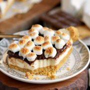 no-bake s'mores cheesecake bars
