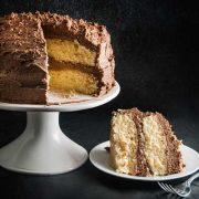 baileys cake with baileys chocolate frosting