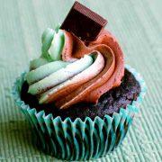 dark chocolate creme de menthe cupcakes