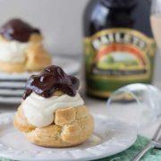 irish cream profiteroles